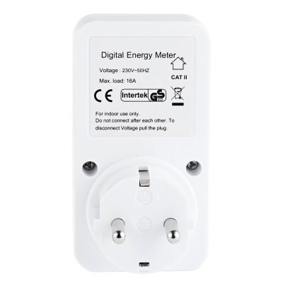 Watt Electricity Usage Monitor SocketPower Strips<br>Watt Electricity Usage Monitor Socket<br><br>Package Contents: 1 x Electricity Socket, 1 x English User Manual<br>Package Size(L x W x H): 7.50 x 5.50 x 10.00 cm / 2.95 x 2.17 x 3.94 inches<br>Package weight: 0.133 kg<br>Product weight: 0.103 kg