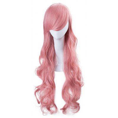 75cm Long Soft Pink Hair Curly Big Wavy Wigs Cosplay