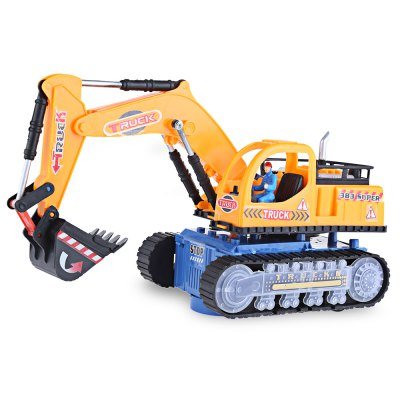 Flashing Wheel Musical Excavator Kids Toy