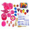 54pcs Kid Kitchen Pretend Toy Set - MULTICOLORE