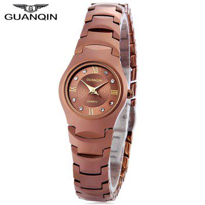 Buy CHAMPAGNE GOLD GUANQIN 6037L Female Quartz Watch for $41.49 in GearBest store
