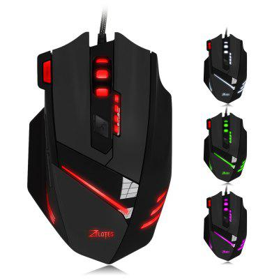ZELOTES T - 60 Wired Optical Self-defining Gaming MouseMouse<br>ZELOTES T - 60 Wired Optical Self-defining Gaming Mouse<br><br>Application: Desktop, Laptop<br>Brand: ZELOTES<br>Color: Black<br>Hand Orientation: Right<br>Interface Type: USB<br>Model Number: T - 60<br>Number of Buttons: 7<br>Number of Rollers: 1<br>Package Contents: 1 x 7200DPI Optical 7D USB Wired Gaming Mouse with LED Backlight, 1 x English User Manual<br>Package Size(L x W x H): 14.50 x 9.50 x 5.00 cm / 5.71 x 3.74 x 1.97 inches<br>Package weight: 0.211 kg<br>Product Size(L x W x H): 13.00 x 8.00 x 3.00 cm / 5.12 x 3.15 x 1.18 inches<br>Product weight: 0.151 kg<br>Tracking Method: Optical<br>Type: Wired