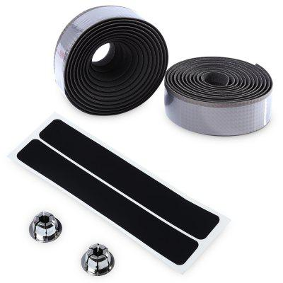 Handlebar Tape with Plug Fiber Belt Strap for Sports Bicycle