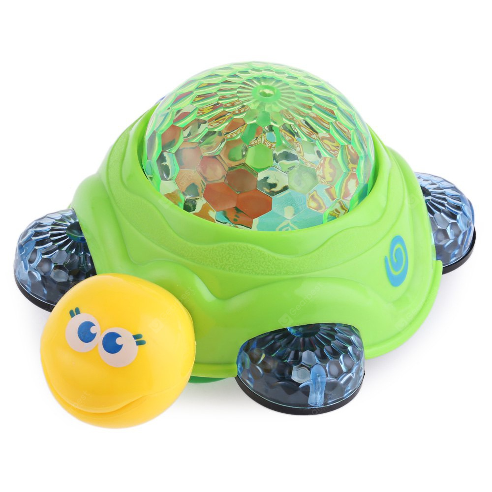 Children Electric Music Turtle Toy COLORMIX
