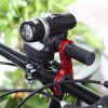 Bicycle Carbon Fiber Handlebar Bracket Flashlight Holder - RED