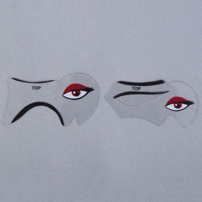 Makeup Eyeliner Eyebrow Stencil Kit Style Model Fundus Fard Paupiere DIY Card