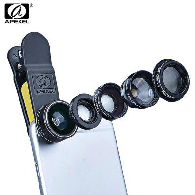 Gearbest APEXEL APL - DG5 5 in 1 Camera Phone Lens Kit