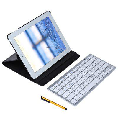 Rotating Smart Case with Bluetooth Keyboard for iPad 2 / 3 / 4