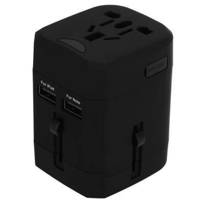 Universal Travel Plug Dual USB Port Wall Charging Converter