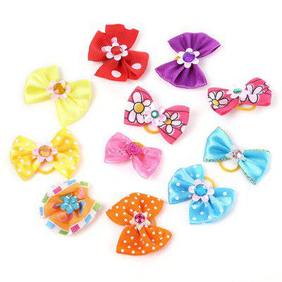 50pcs Cute Pet Headwear Bow