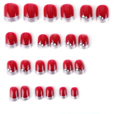 Wine Red Elegant Manicure Patch Nail Sticker