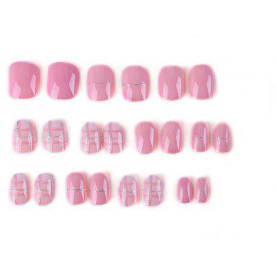 Buy PINK Fashion Lovely Pink Short Nail Sticker for $5.78 in GearBest store
