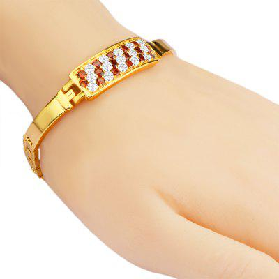 Crystal Cubic Zirconia 18k Gold Plated Bracelet Clasp Bangle
