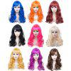 Women Long Big Wavy Hair Wigs Cosplay Party Costume - COFFEE
