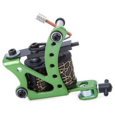 Carbon Steel Tattoo Machine Gun 8 Wraps Coils Liner