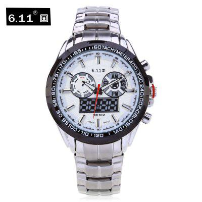 6.11 8153 Male Dual Movt Military Watch