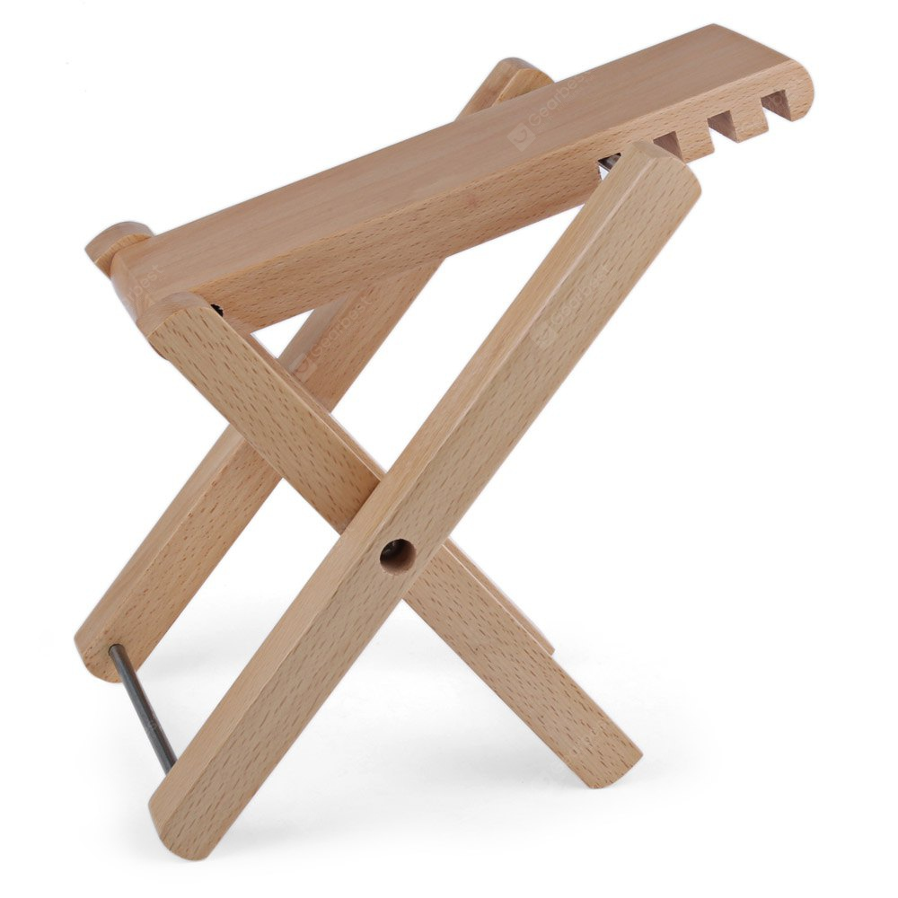 Well-crafted Folding Adjustable Wooden Guitar Footstool WOOD