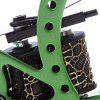 Carbon Steel Tattoo Machine Gun 8 Wraps Coils Liner - GREEN