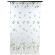 1 x 2m Tulip Floral Printed Sheer Window Curtain