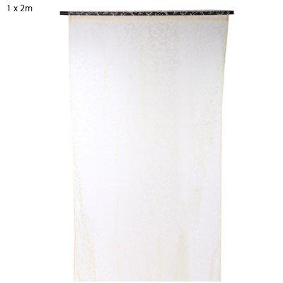 100 x 200cm Flocking Floral Sheer Window Curtain