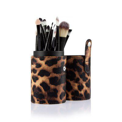 20pcs Eye Makeup Foundation Brush with Leopard Storage Case