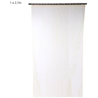 100 x 270cm Flocking Floral Sheer Window Curtain