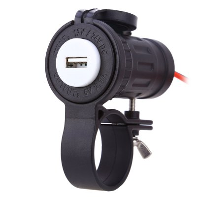 C943 60L Z 2.1A Vehicle Car Dual USB Charger with Bracket
