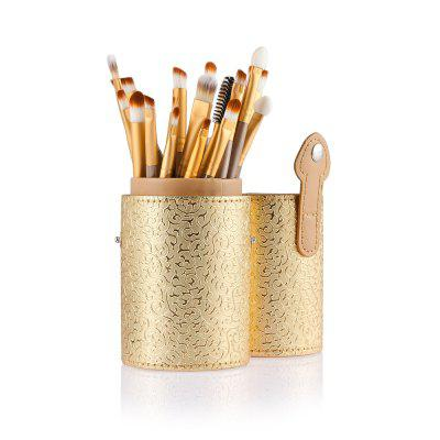 20pcs Eye Makeup Foundation Brush with Gold Storage Case