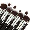 10Pcs Cosmetic Makeup Brush with Golden Alligator Pattern PU Box - 05