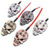 Skull Tattoo Machine Power Supply Foot Pedal Switch - SILVER WHITE