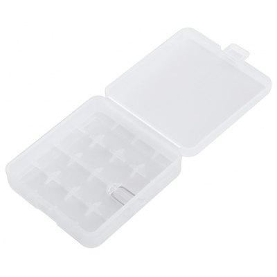 Plastic Transparent Case Holder for 4 x 18650 Battery