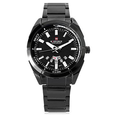 Naviforce NF9038M Male Quartz WatchMens Watches<br>Naviforce NF9038M Male Quartz Watch<br><br>Band Length: 8.66 inch<br>Band Material Type: Stainless Steel<br>Band Width: 20mm<br>Case material: Alloy<br>Case Shape: Round<br>Clasp type: Folding Clasp<br>Dial Diameter: 1.73 inch<br>Dial Display: Analog<br>Dial Window Material Type: Hardlex<br>Feature: Luminous, Day, Date<br>Gender: Men<br>Movement: Quartz<br>Package Contents: 1 x Naviforce NF9038M Male Quartz Watch<br>Package Size(L x W x H): 12.00 x 6.00 x 2.00 cm / 4.72 x 2.36 x 0.79 inches<br>Package weight: 0.142 kg<br>Product Size(L x W x H): 22.00 x 5.00 x 1.00 cm / 8.66 x 1.97 x 0.39 inches<br>Product weight: 0.120 kg<br>Style: Business<br>Water Resistance Depth: 30m