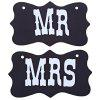 MR MRS Wedding Photo Props - BLACK