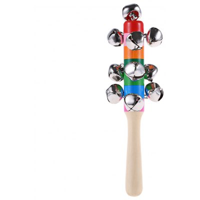 Baby Wooden Rainbow Handbell Toy