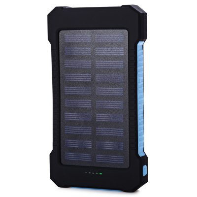 10000mAh Solar Panel Power Bank