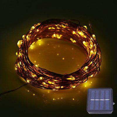 Buy WARM WHITE LIGHT 12M 120 LEDs Solar Powered Copper String Light for $9.88 in GearBest store