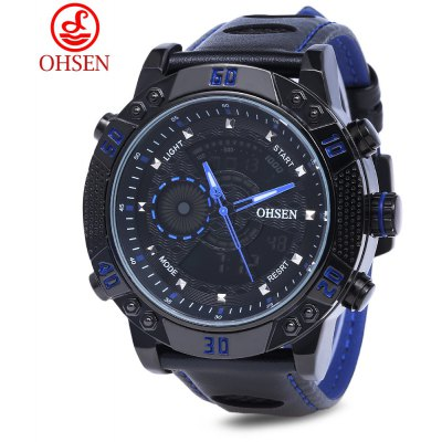 OHSEN AD1609 Men Double Movement Sports Watch