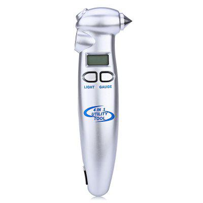 4 in 1 Digital LCD Tire Gauge