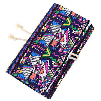 36 Slots Canvas Pen Roll Up Pencil Bag