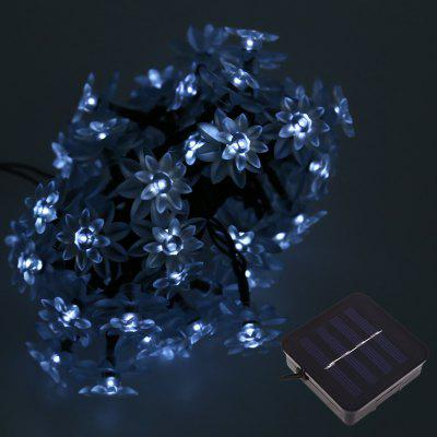 Buy COOL WHITE LIGHT 50 LEDs Solar Powered Lotus Flower String Light for $12.65 in GearBest store