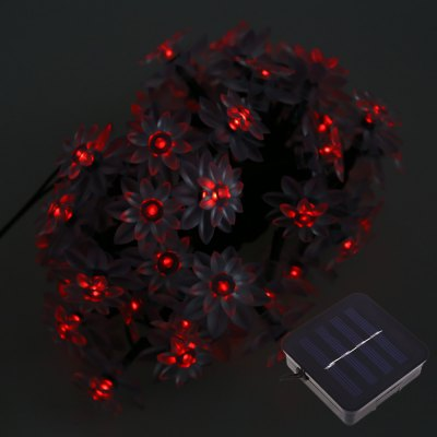 50 LEDs Solar Powered Lotus Flower String Light