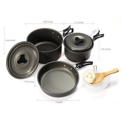 Outdoor Picnic Camping Aluminum Alloy Pots Cookware Set