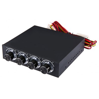 STW 3.5 inch 4 Channel Drive Bay Fan Speed Temperature Controller