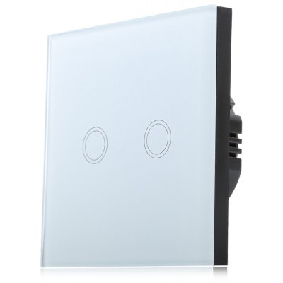 Smart Touch Switch 2 Gang 1-way Intelligent Controller with Remote Control