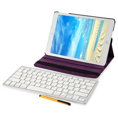 Wireless Bluetooth Keyboard Rotating Case for iPad Air 2