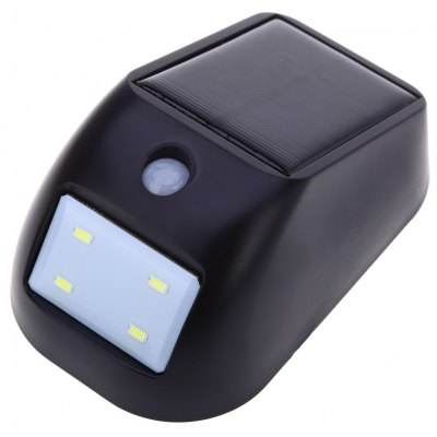 4 LEDs Solar Powered PIR Sensor Wall Light
