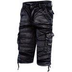 Multi-pocket Mid Waist Moire Men Casual Cargo Shorts deal