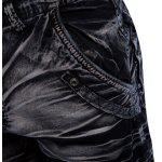 best Multi-pocket Mid Waist Moire Men Casual Cargo Shorts