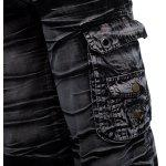 Multi-pocket Mid Waist Moire Men Casual Cargo Shorts photo
