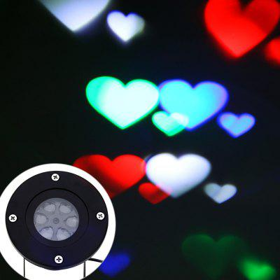 LED Heart Projector Lamp
